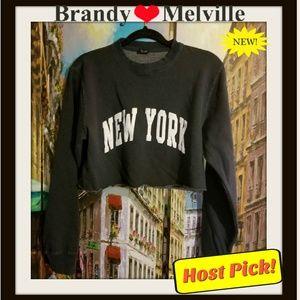 new brandy melville Lily New York Bl sweatshirt